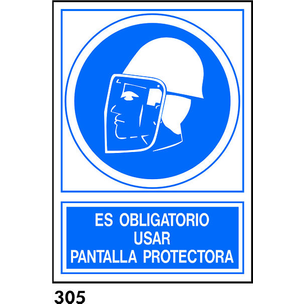 SEÑAL PVC NORM. A3 CAST. R-305 - USAR PANTALLA PRO
