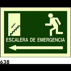 SEÑAL PVC FOTO A4 CAT R-638 - ESCALA EMERGENCIA