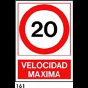 SEÑAL PVC NORM A3 R-161 - .VELOCIDAD MAXIMA 10 KM.