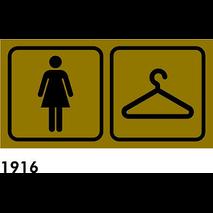 SEÑAL AL. BEIG 17X8,5 PICTOGRAMAS R-1916- VEST SRA