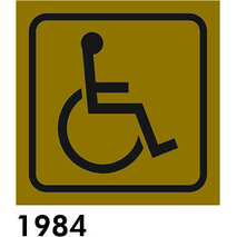 SEÑAL AL. PLATEADO 8.5X8.5  R-1984 - MINUSVALIDO