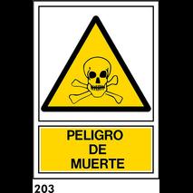 SEÑAL AL. NORM. A3 CAT R-203 - .PERILL DE MORT.