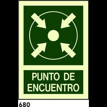 SEÑAL PVC NORM. A4 CAT R-680 - PUNT DE TROBADA