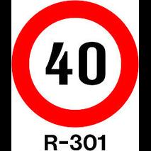 SEÑAL MOPU REFL NI 60CM R-301 - VELOCIDAD MAX. 40