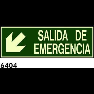 SEÑAL PVC FOTO 445X148 R-6404 - SALIDA DE EMERGENC