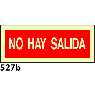 SEÑAL PVC FOTO 210X85 R-527B - NO HAY SALIDA