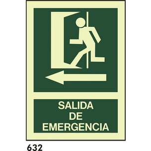 SEÑAL PVC FOTO A4 CAST R-632 - SALIDA DE EMERGENCI