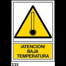 SEÑAL AL. NORM. A3 CAST. R-235 - .ATENCION BAJA...