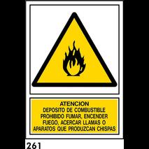 SEÑAL PVC NORM A4 CAST R-261 - ATENCION DEPOSITO..