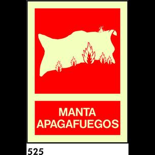SEÑAL PVC FOTO CAT A4 R-525 - .MANTA APAGAFOCS.