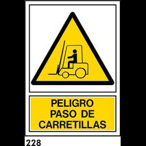 SEÑAL PVC NORM. 59X59 R-228 S/TEXTO - PASO CARRETI
