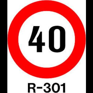SEÑAL MOPU PINTADA 60CM. R-301 - LIMITE 30 -