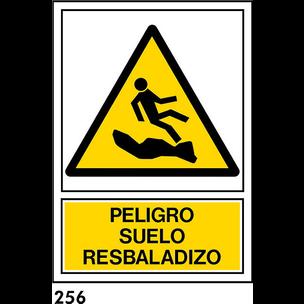 SEÑAL AL. NORM A3 CAST R-256 - SUELO RESBALADIZO