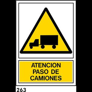 """SEÑAL AL. NORM A3 CAT R-263 - """"CAMIONS"""""""