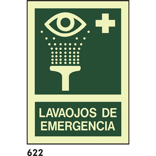 SEÑAL AL. FOTO A4 CAST R-622 - LAVAOJOS EMERGENCIA