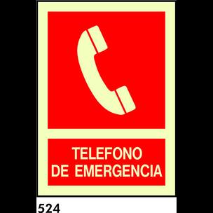 SEÑAL AL. NORM. BANDEROLA 21X21 R-524 - TELEFONO