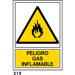 SEÑAL AL. NORM. A3 CAST. R-219 - GAS INFLAMABLE