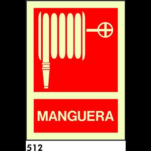 SEÑAL PVC FOTO 21X21 S/TEXTO R-512 - MANGUERA