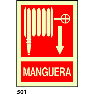 SEÑAL BANDEROLA PVC FOTO A4 CAT R-501 - MANEGA