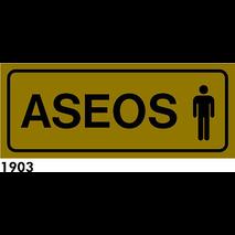 SEÑAL AL. PLATEADO 21X8.5 CAST R-1903 - ASEOS HOMB