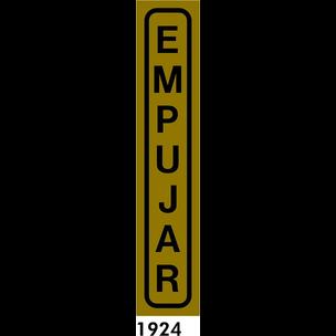 SEÑAL AL. PLATEADO 20X4 CAST R-1924 - EMPUJAR