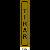 SEÑAL AL. DORADO 20X4 CAST R-1925 - TIRAR