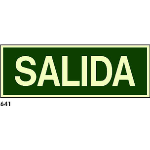 SEÑAL PVC FOTO 297X105 CAST R-641 - SALIDA
