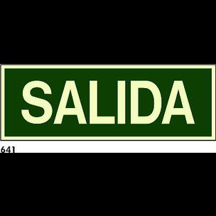 SEÑAL PVC FOTO CAST 594X210 R-641 - SALIDA