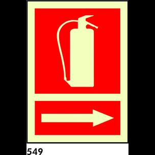 SEÑAL PVC FOTO A4 R-549 - EXTINTOR + FLECHA DERECH