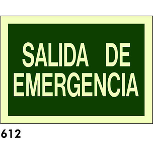 SEÑAL PVC FOTO A3 CAT R-612 - SORTIDA DE...