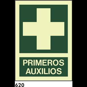 SEÑAL PVC FOTO A4 R-620 - .PRIMEROS AUXILIOS.
