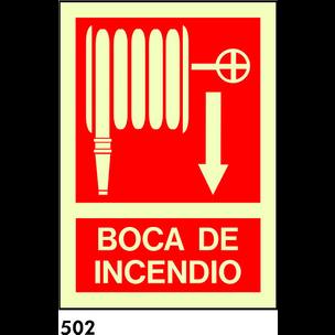 SEÑAL PVC FOTO A4 CAT R-502/C513 .BOCA D.INCENDI.