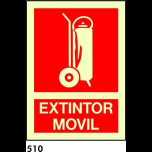 SEÑAL PVC FOTO A4 R-510 - .EXTINTOR MOVIL.