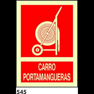 SEÑAL PVC FOTO A4 CAT R-545 - CARRO PORTAMANEGUES