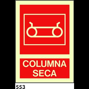 SEÑAL PVC FOTO A4 R-553 - .COLUMNA SECA.