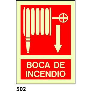 SEÑAL PVC FOTO A4 CAST R-502/C513 .BOCA DE INCENDI