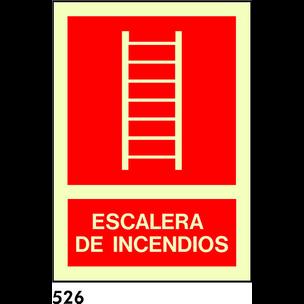 SEÑAL PVC FOTO A4 CAST R-526 - ESCALERA INCENDIOS