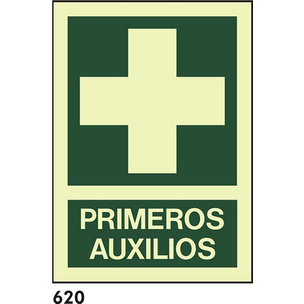 SEÑAL PVC FOTO A3 CAT R-620 - PRIMERS AUXILIS