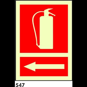 SEÑAL PVC FOTO A4 R-547 - EXTINTOR + FLECHA IZQUIE