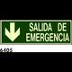 SEÑAL PVC FOTO 891X217 R-6405 - SALIDA EMERGENCIA