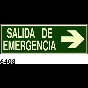 SEÑAL PVC FOTO CAST 445X148 R-6408 - SALIDA EMERGE