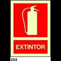 // NO FER ANAR SEÑAL PVC FOTO A4 R-504 - EXTINTOR - ECONOMICA