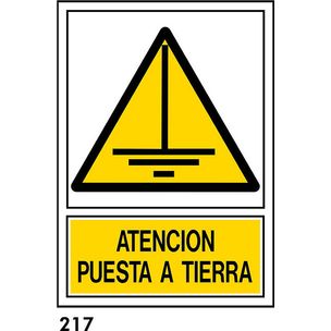 SEÑAL PVC NORM. A3 CAT. R-217 - POSTA A TERRA