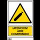 SEÑAL PVC NORM. A3 CAT R-244 .AIRE COMPRIMIT....