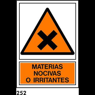SEÑAL PVC NORM A3 CAT R-252/J910 .MATERIAS NOCI...
