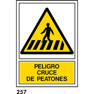 SEÑAL PVC NORM. A3 CAT R-257 .PEATONS.