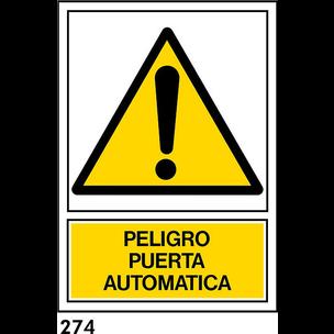 SEÑAL PVC NORM A3 CAT R-274 .PORTA AUTOMATICA.