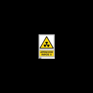 SEÑAL PVC NORM. A3 CAST. R-209 - RAYOS X