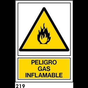 SEÑAL PVC NORM. A3 CAST. R-219 - GAS INFLAMABLE