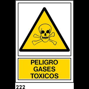 SEÑAL PVC NORM. A3 CAST. R-222 - GASES TOXICOS